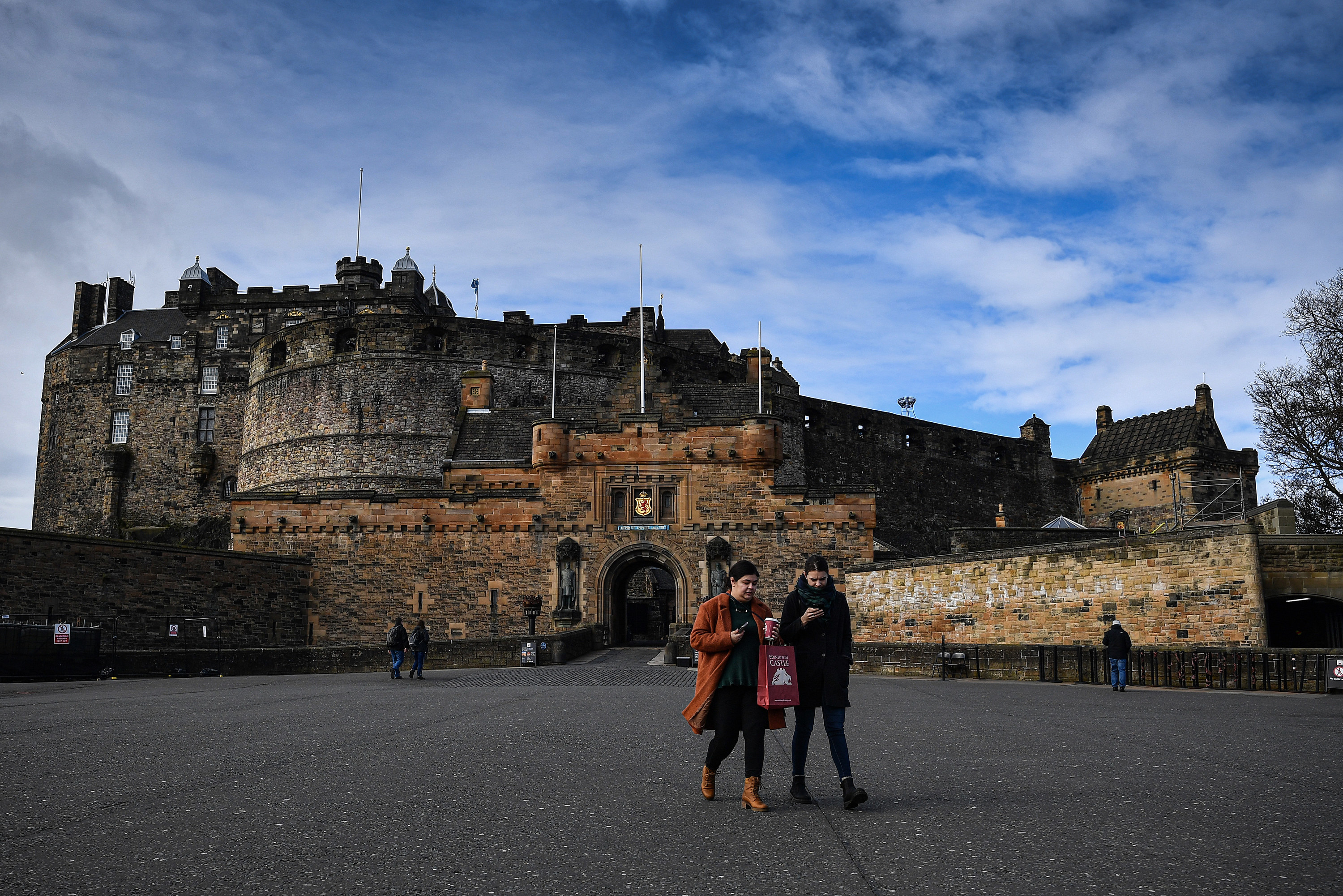 An empty esplanade at Edinburgh Castle on March 17.