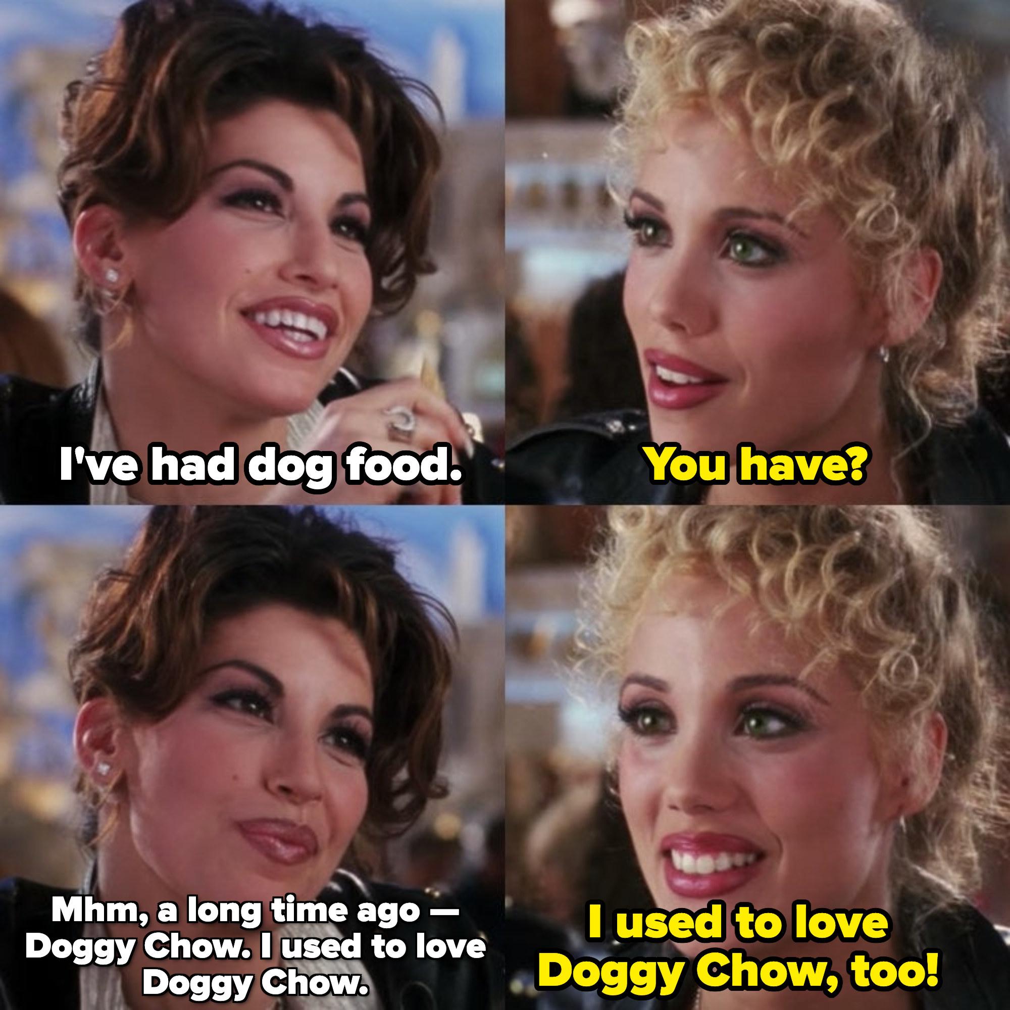 """克里斯托:""""我是说;我';我吃了狗粮;诺米:"""";你有吗;克里斯托:""""我是说;很久以前——狗周。我以前很喜欢狗周;诺米:"""";我以前也喜欢狗周&引用;"""