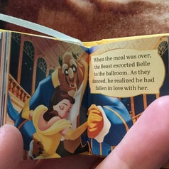 the Beauty and the Beast book open