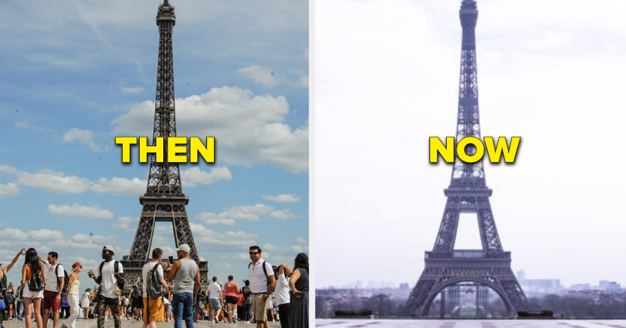 26 Eerie Pictures Of Famous Landmarks From Around The World Before And After The Coronavirus Outbreak