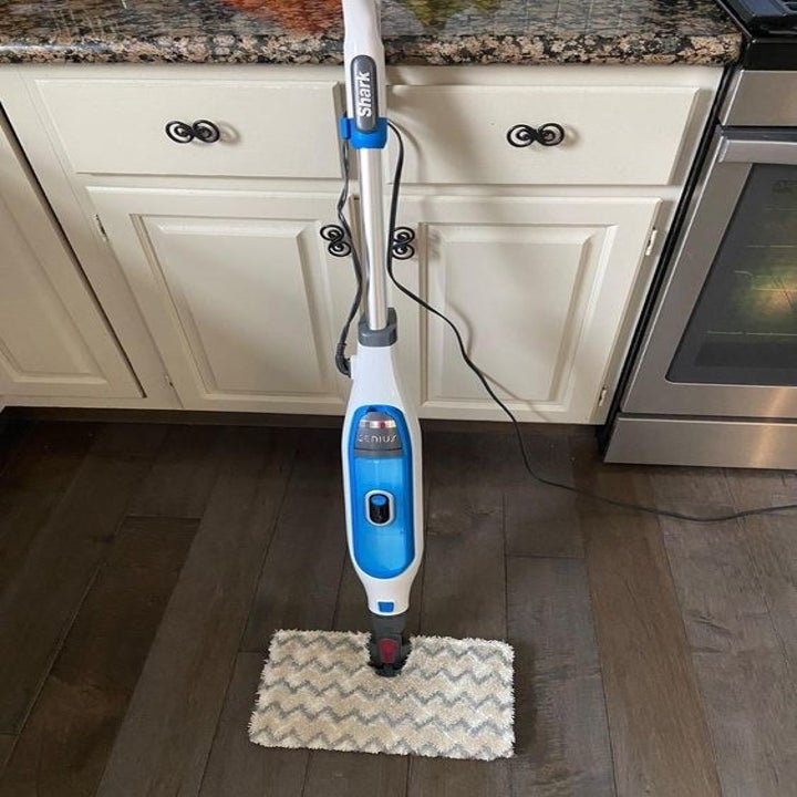 Reviewer's picture of the steam mop