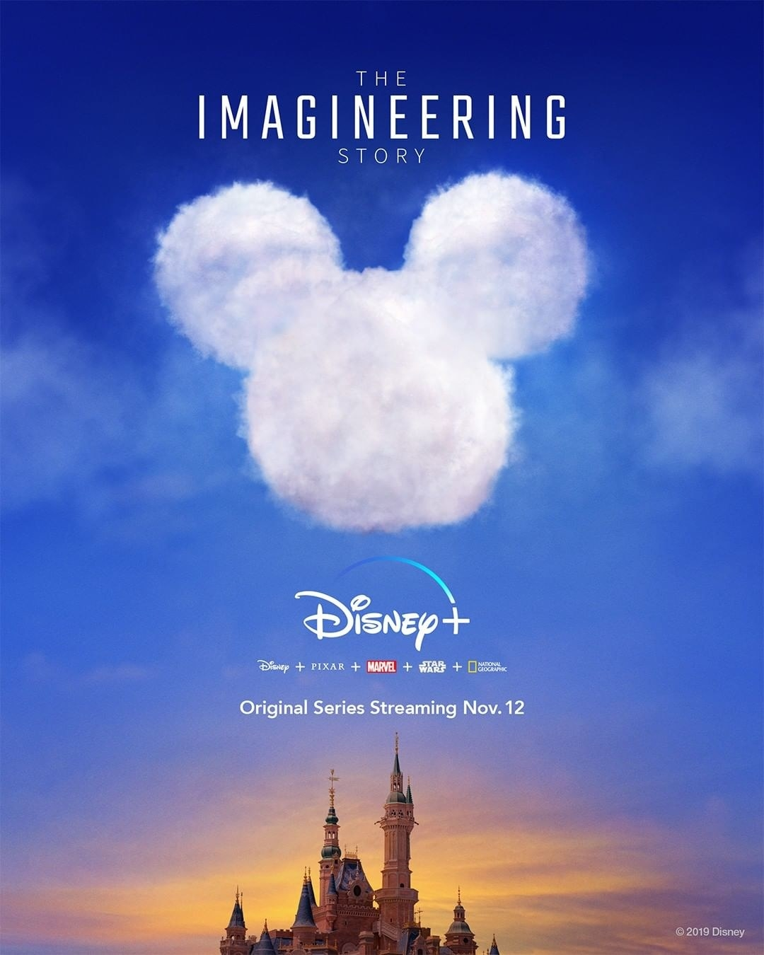 the poster for the imagineering story docu-series