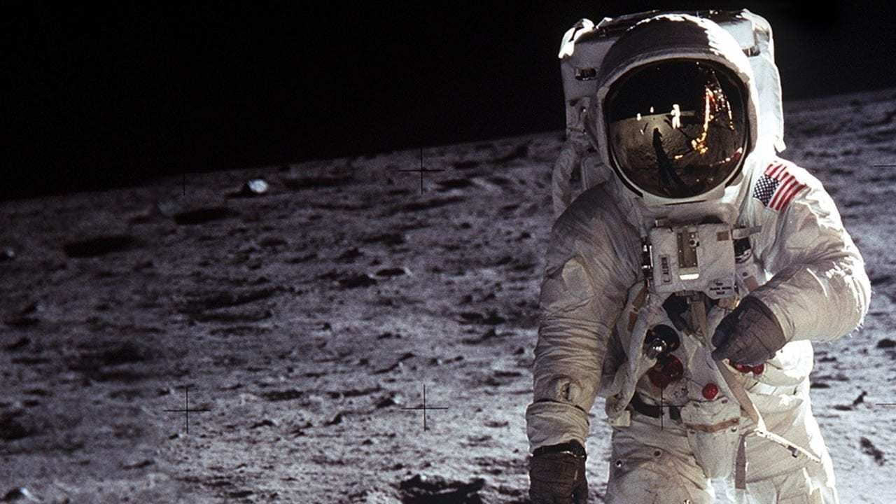 an image of an astronaut on the moon