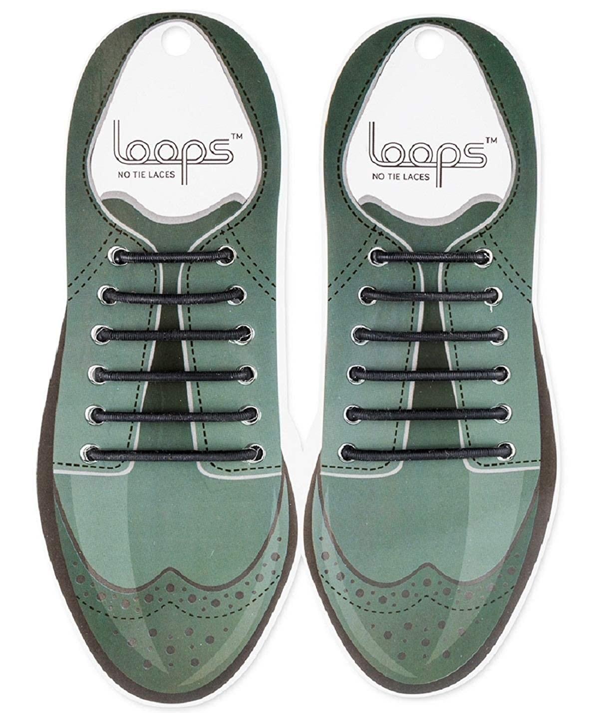 A pair of no-tie shoelaces