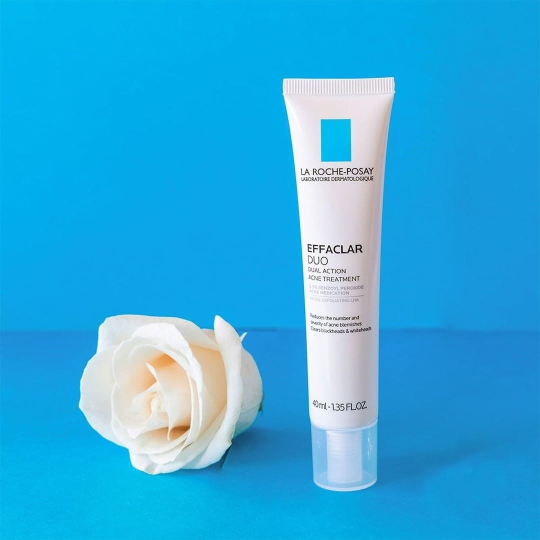 The squeezable product tube and a flower