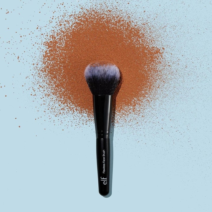 The powder on a brush