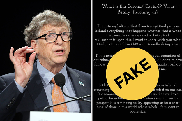 This 'Spiritual' Bill Gates Quote About The Coronavirus Is All Over The Internet, But It's Fake thumbnail
