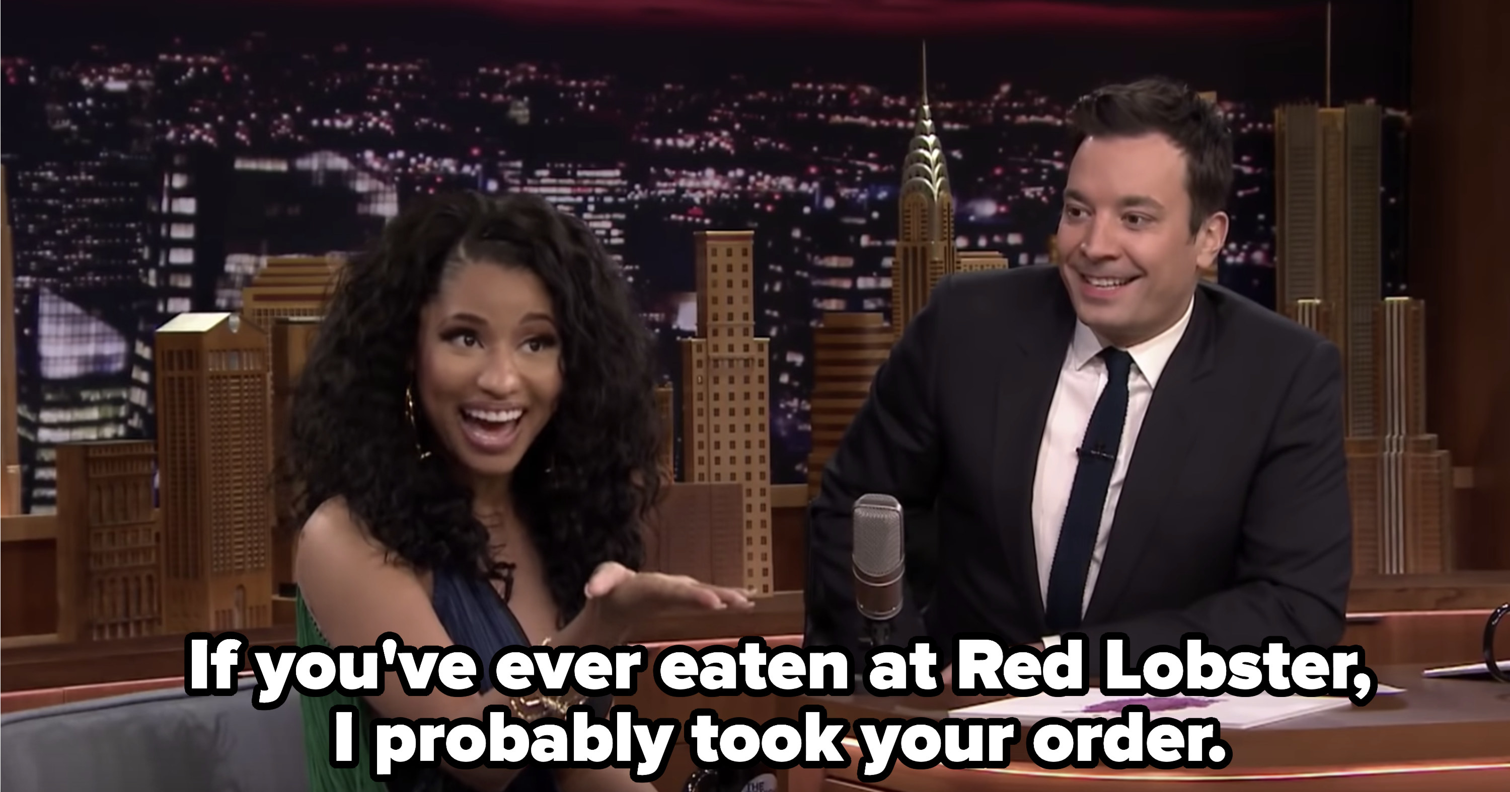 "Nicki Minaj on Jimmy Fallon: ""If you've ever eaten at Red Lobster, I probably took your order"""