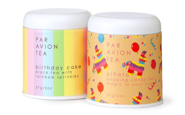 Two different types of tea with sprinkles in them