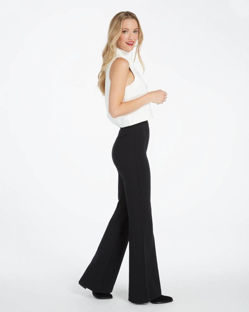 A model wearing the flare pant