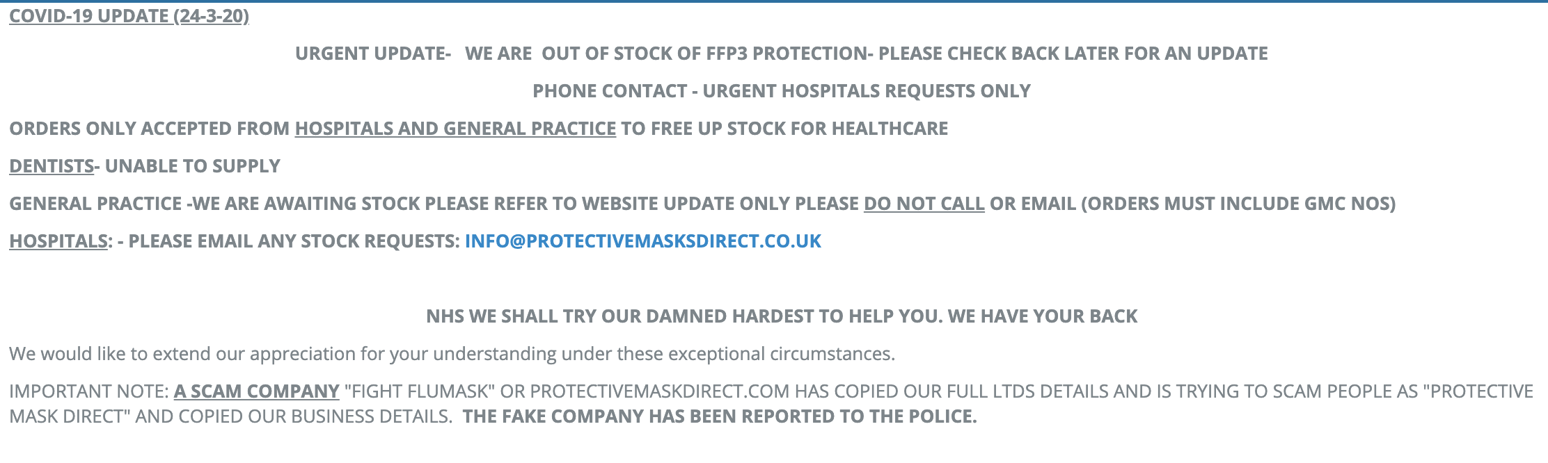 Protectivemaskdirect Com Has Been Scamming People Desperate For Coronavirus Masks