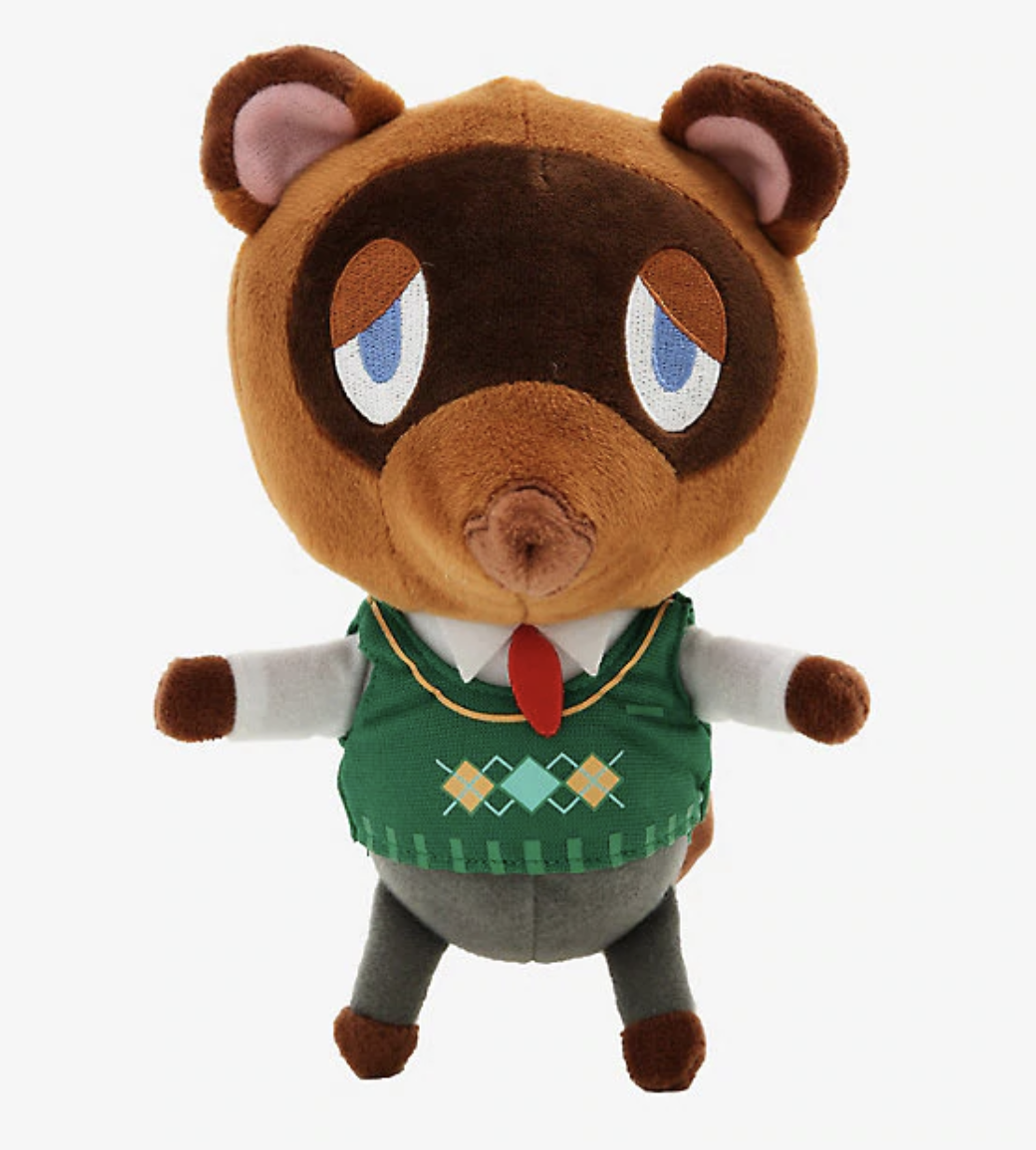 A plush of Tom Nook from ANimal crossing