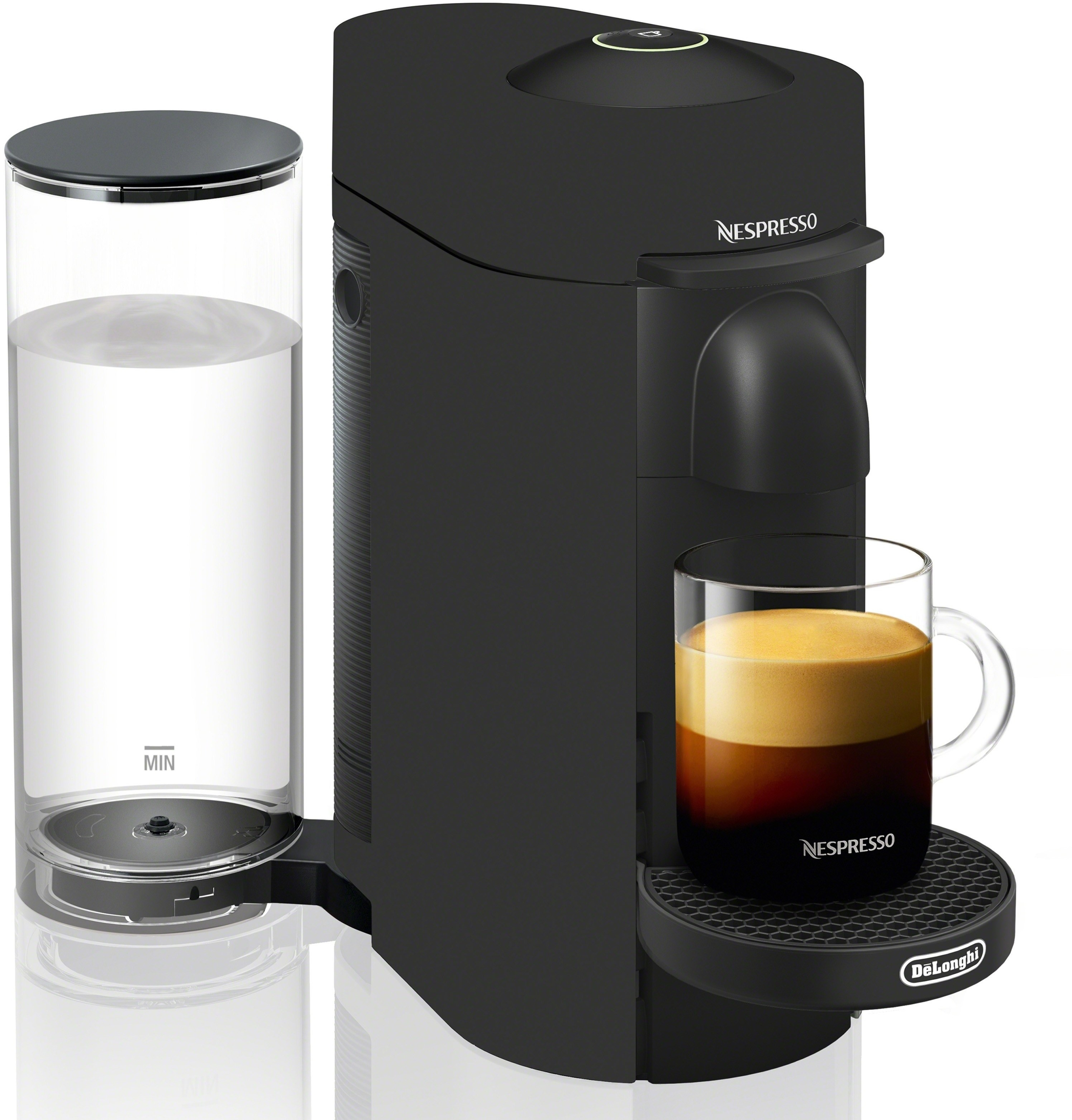 a black nespresso coffee machine