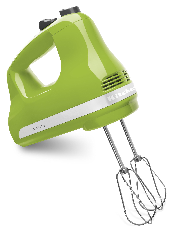 a green hand mixer