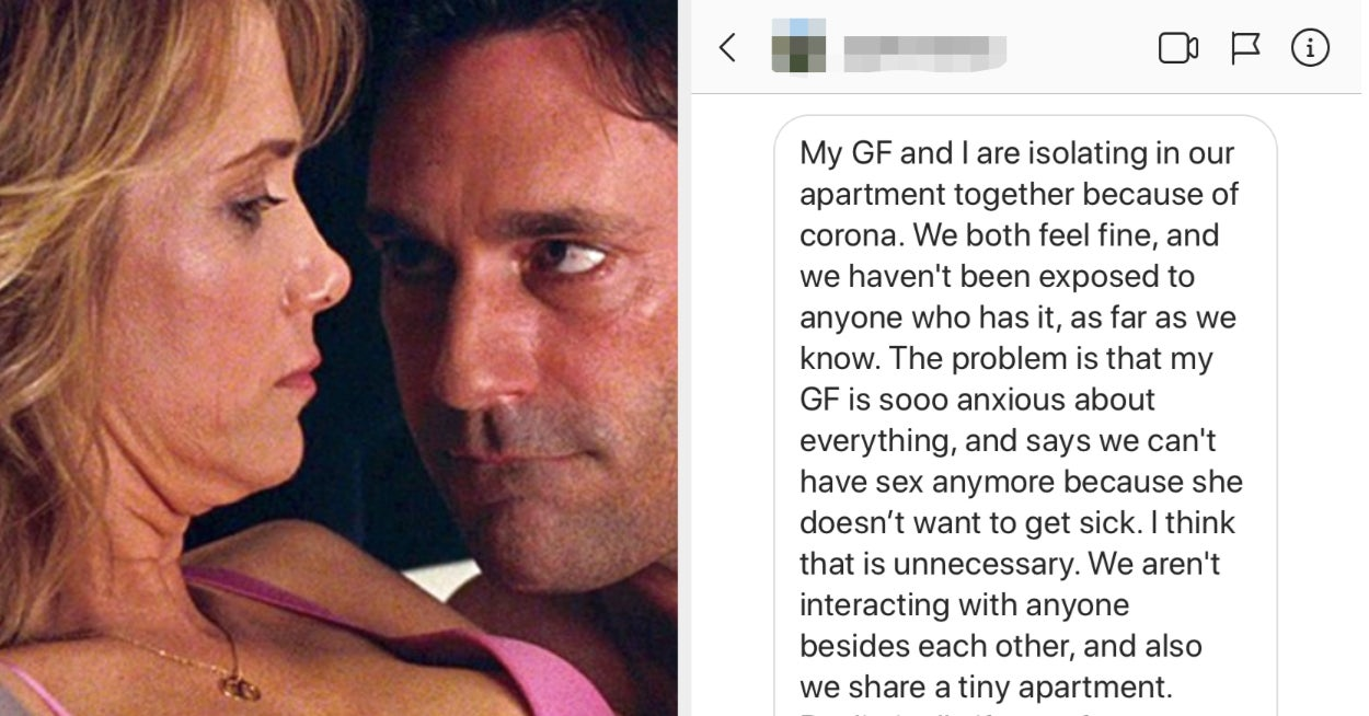 This Couple Disagrees On Whether To Have Sex During The Coronavirus Pandemic — What Should They Do?