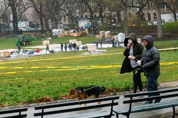 A Field Hospital Is Being Built In Central Park As The Coronavirus Outbreak Continues
