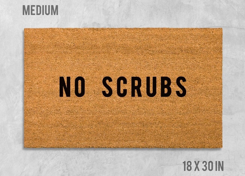 tan doormat that says