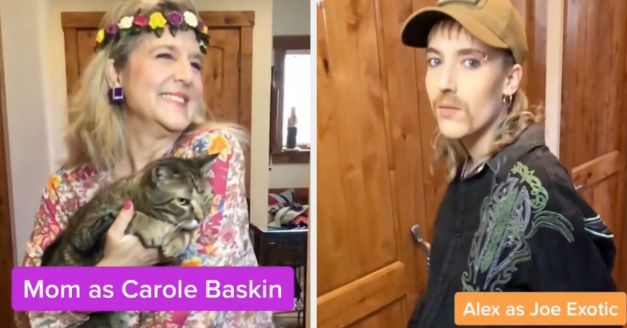 """This TikTok Family Had A """"Tiger King""""–Themed Quarantine Dinner And...They Win"""