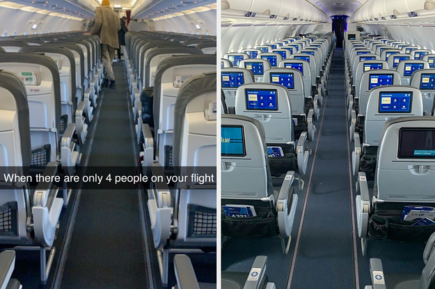 15 Photos That Show How Deserted Airplanes And Airports Are Right Now