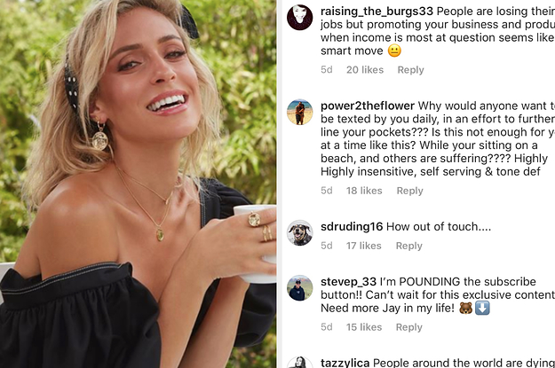 """Kristin Cavallari Is Being Dragged For These """"Tone Deaf"""" Instagram Posts Promoting Her Business During The Coronavirus Crisis"""