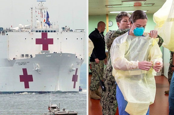 These Pictures Show How US Hospital Ships Will Help Fight The Coronavirus Pandemic