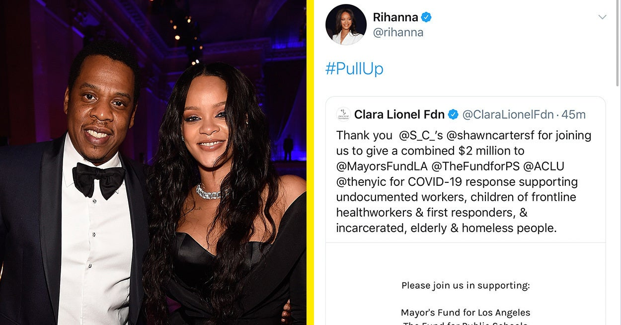 Rihanna And Jay-Z Donate $2 Million To Support Vulnerable People ...