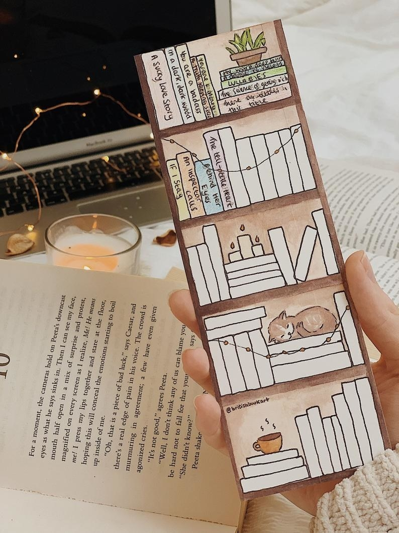 The book tracker, which looks like a blank book shelf and you can fill in the names of the books on the spine as you finish them