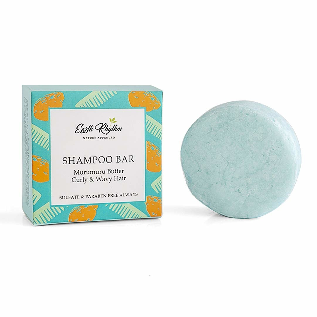 Packaging of the shampoo bar next to the bar