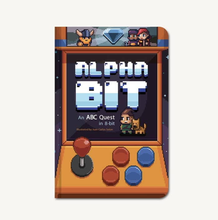a board book designed to look like an old school arcade machine