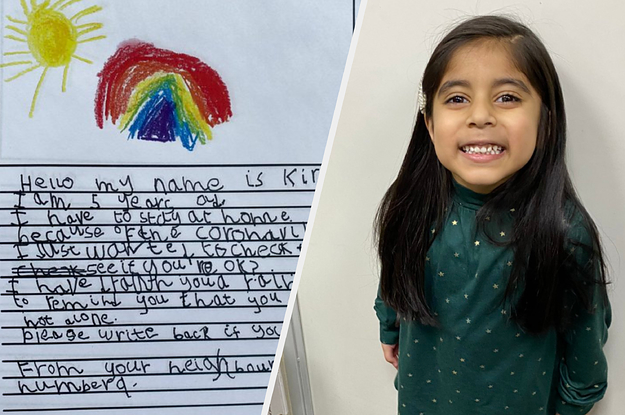 This 5-Year-Old Wrote Moving Letters To Check In On Her Elderly Neighbours During The Coronavirus Lockdown And She Got This Amazing Response