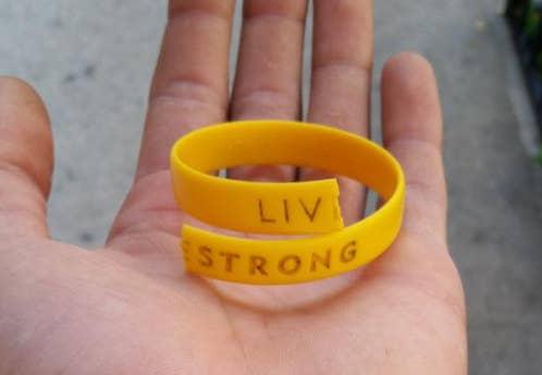 torn livestrong bracelet