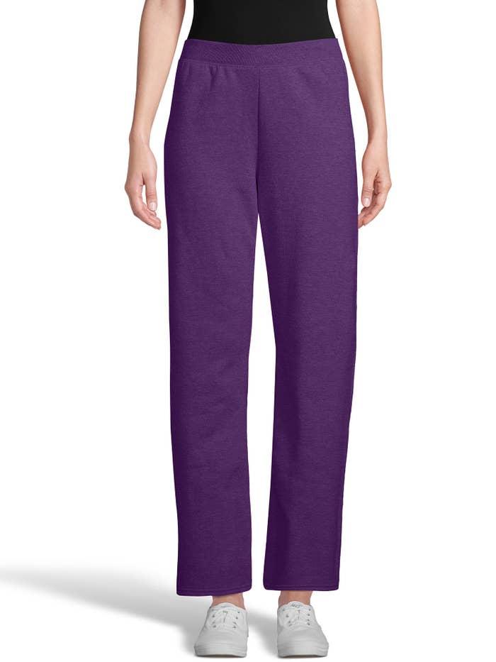 The purple sweatpants