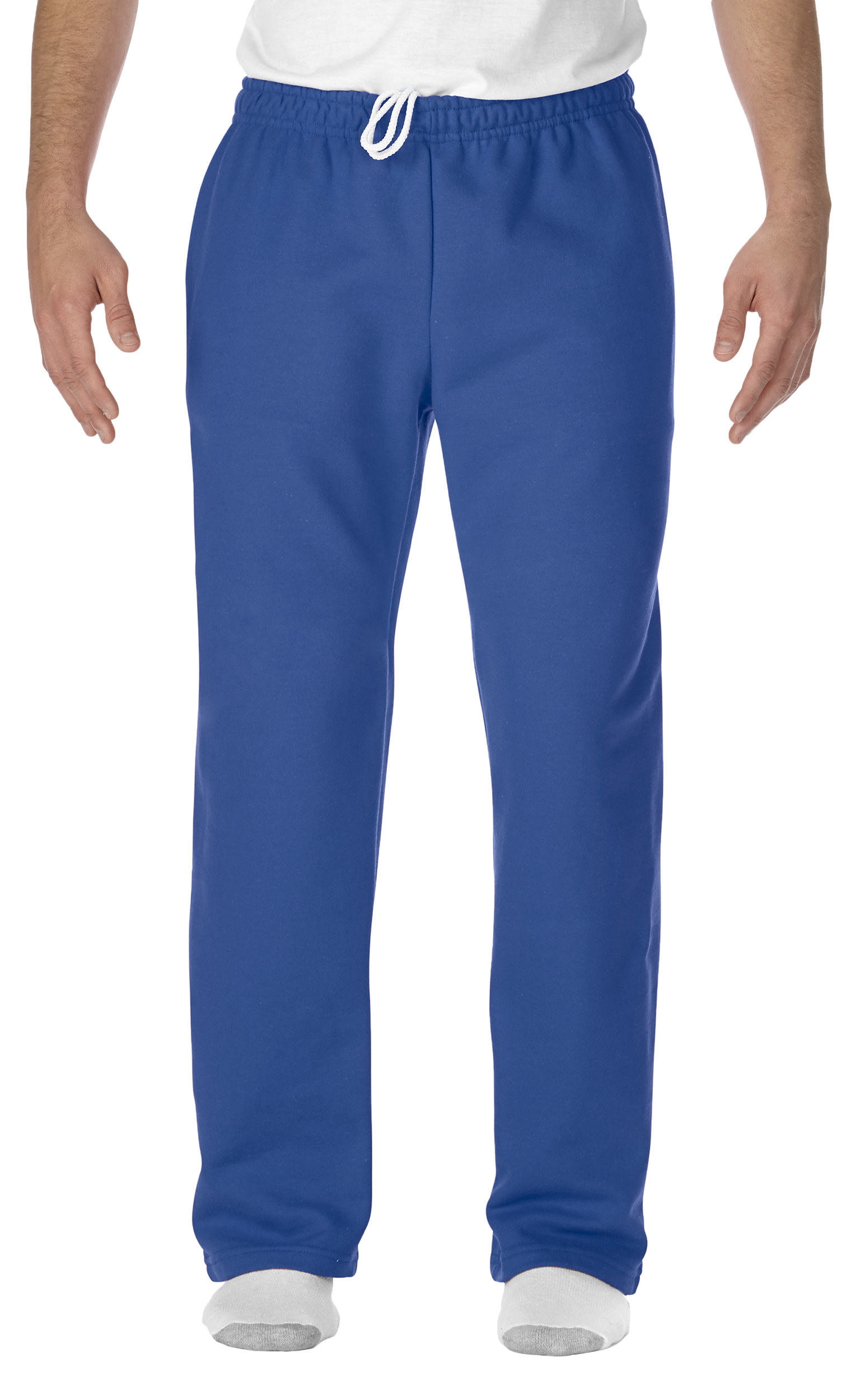 The blue sweatpants