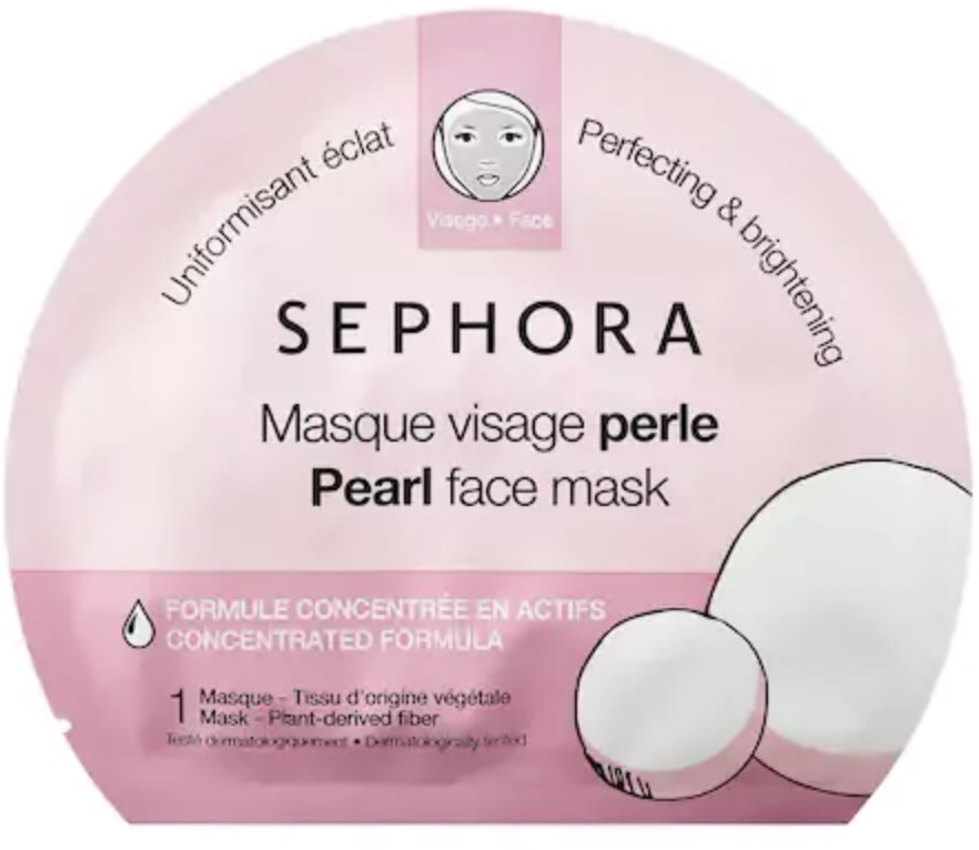 A packet of the Sephora pearl face mask