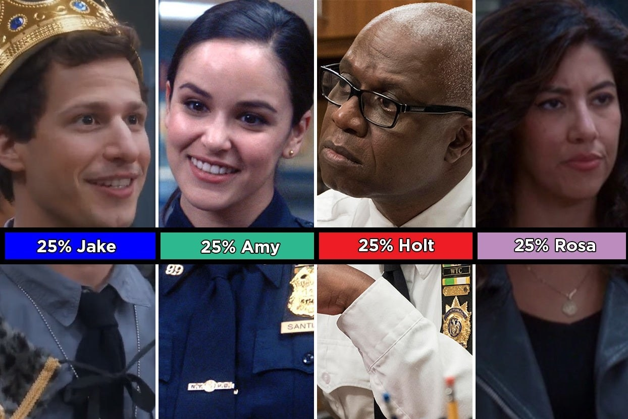 25% Jake, Amy, Holt, and Rosa