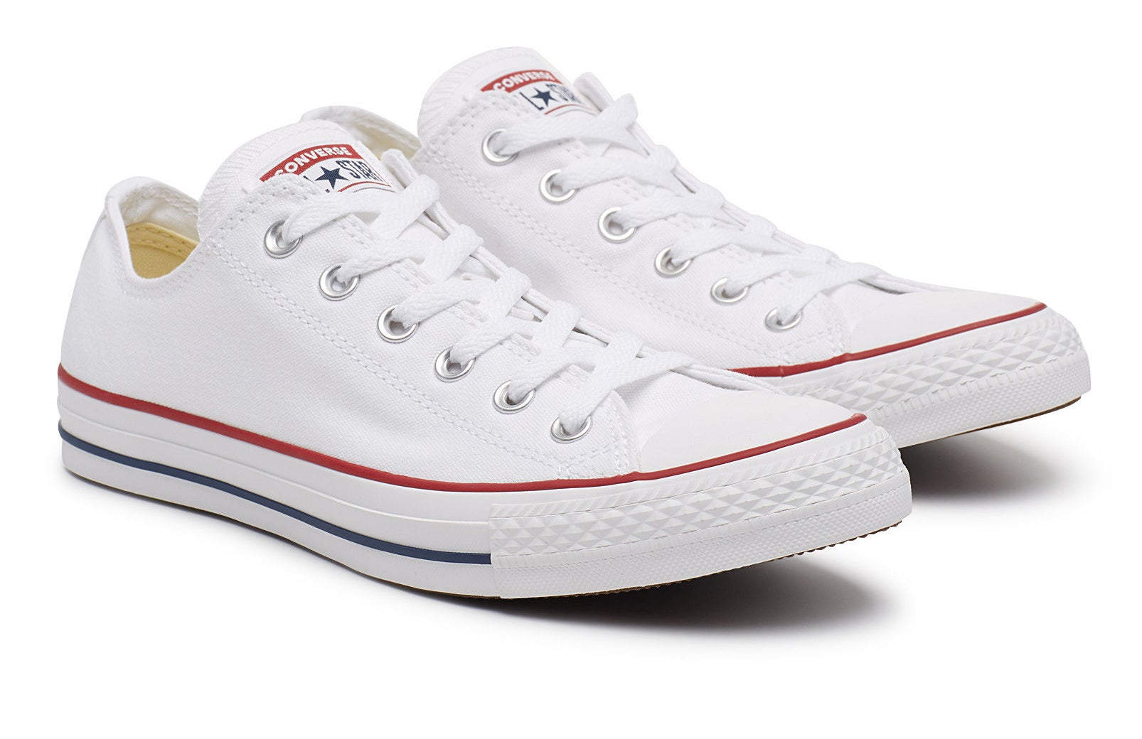 A pair of low rise Converse shoes