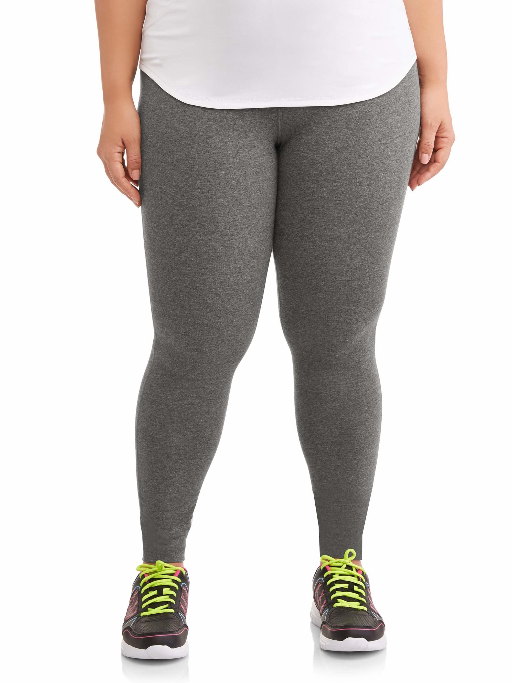 model wearing gray leggings