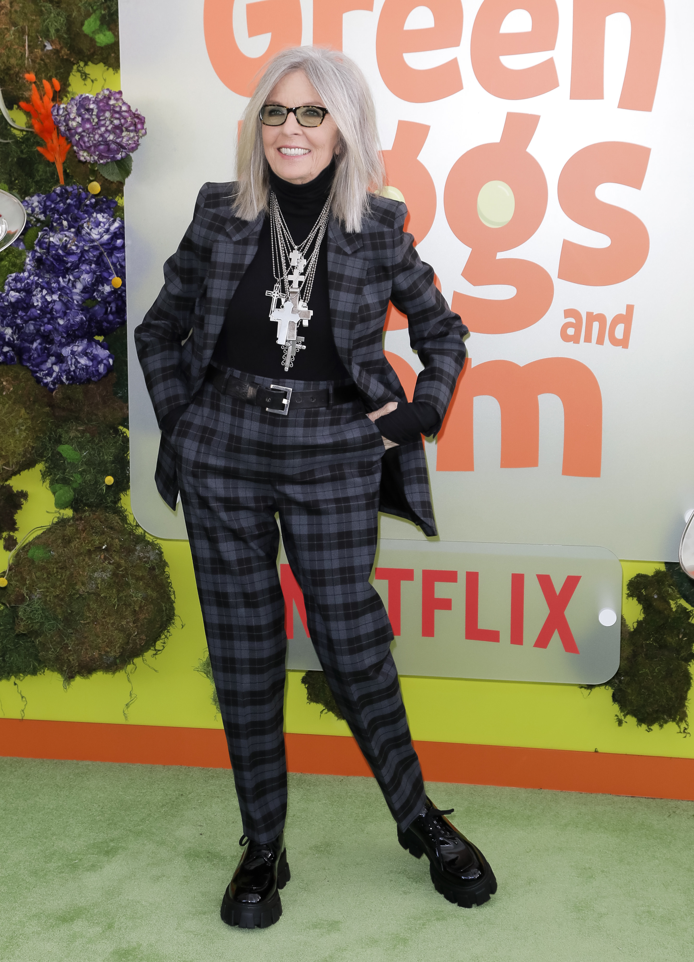 Diane on the green eggs and ham red carpet