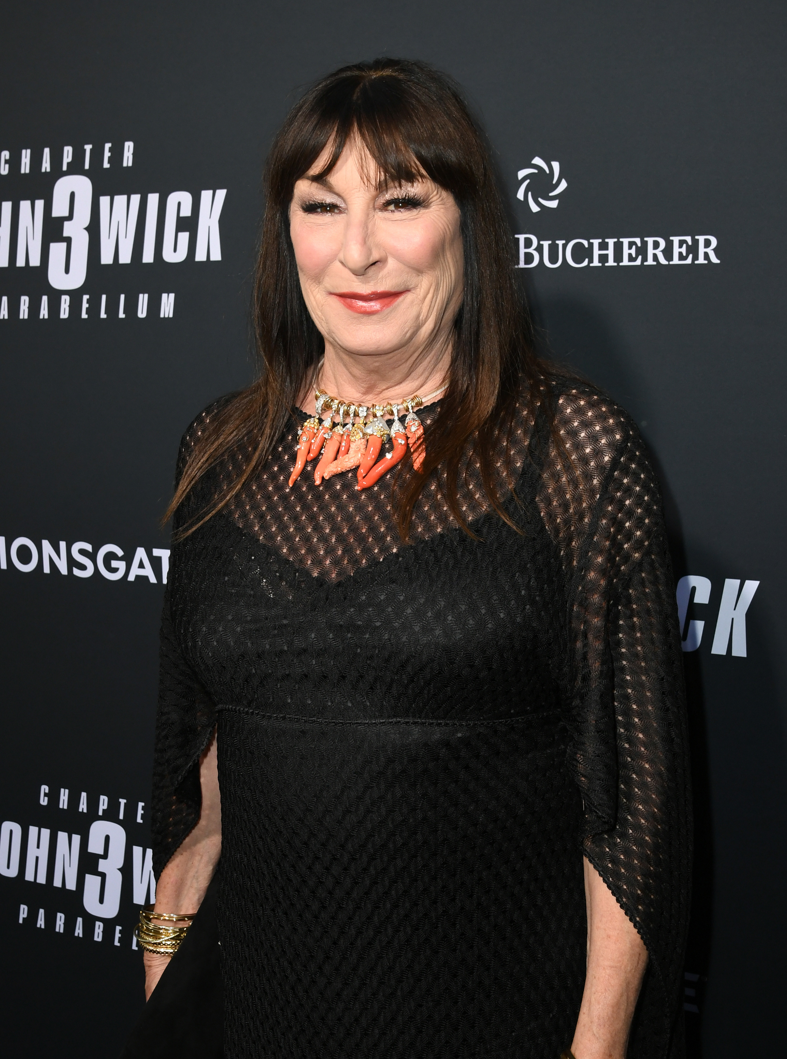 Anjelica on the red carpet
