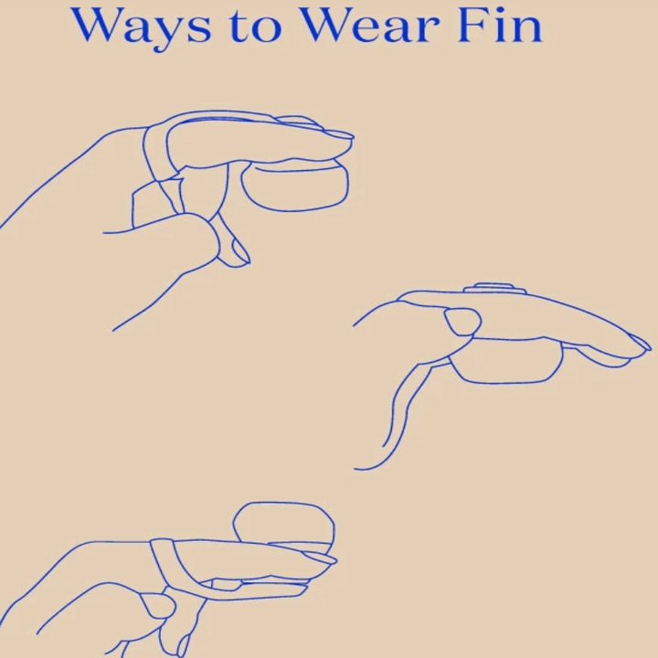 Diagram that shows three different ways to wear same vibe