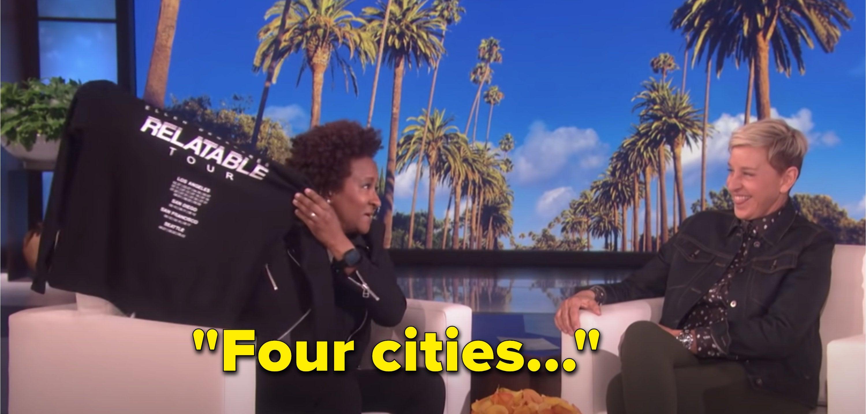 "Wanda Sykes telling Ellen ""four cities"" isn't really a tour"