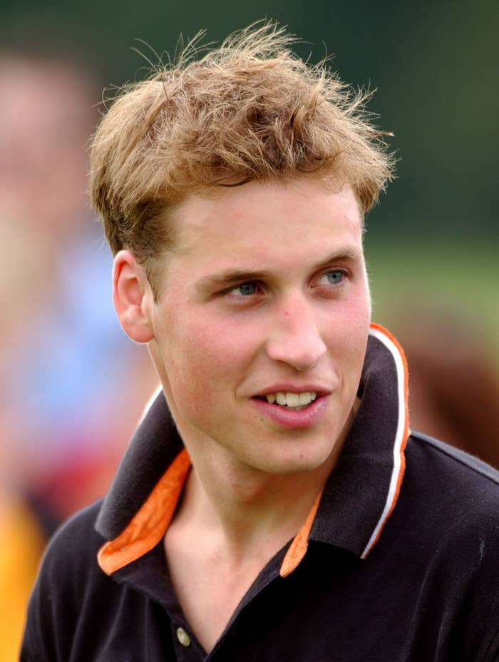Prince William with short, tousled hair