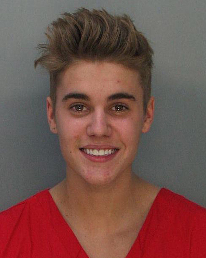 his mugshot