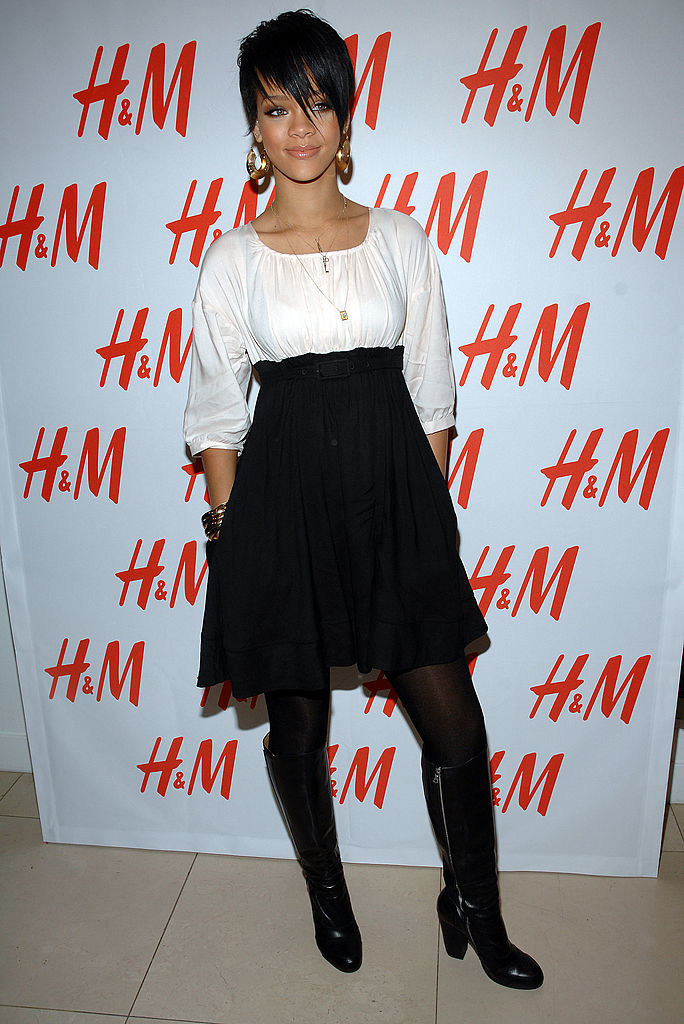 at an H&M party