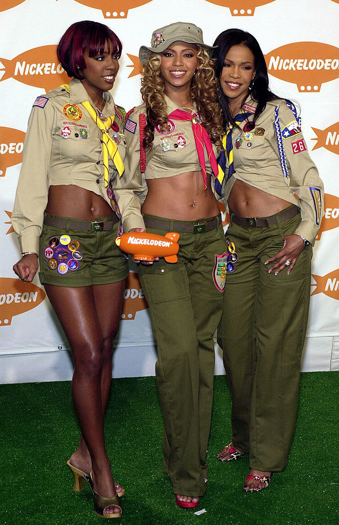 WIth fellow Destiny's Child members and a Nickelodeon Award