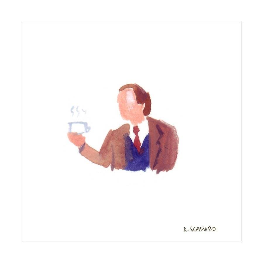 An illustration of Dr. Frasier Crane.