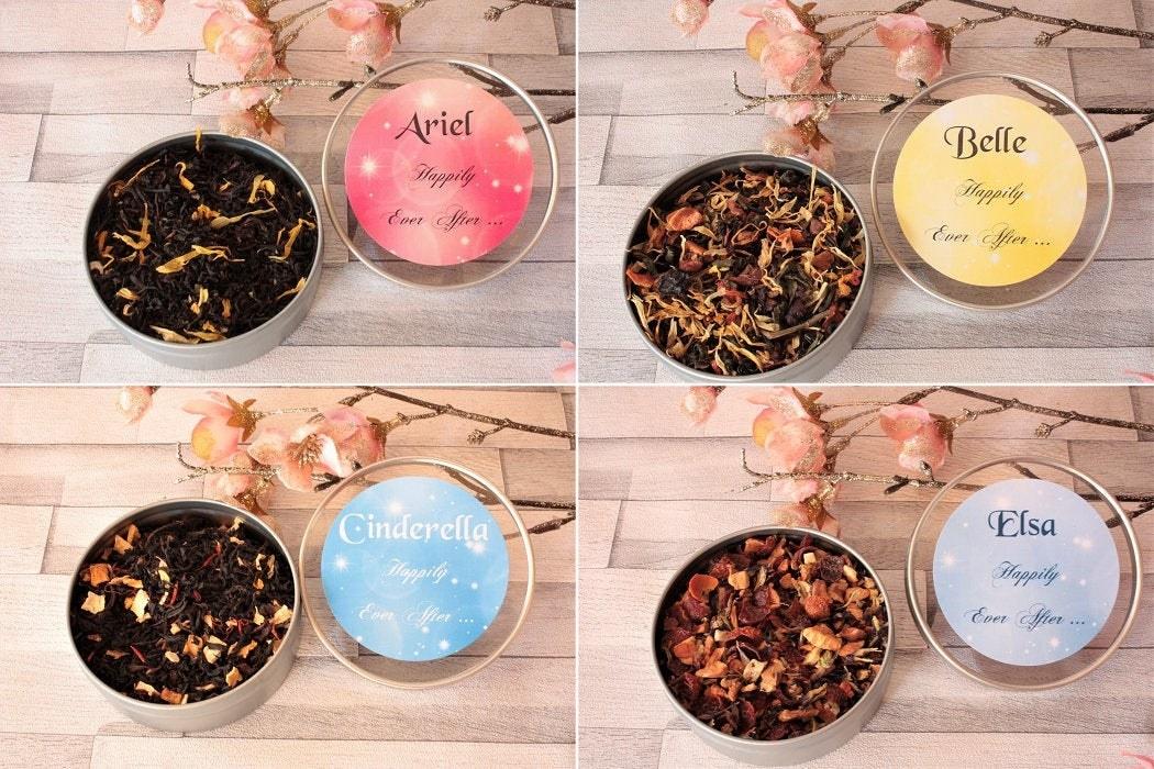 tea tins of four princesses