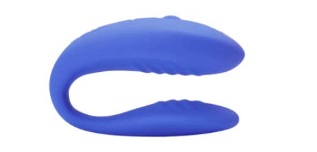 The C-shaped, hands-free, ridged silicone vibrator