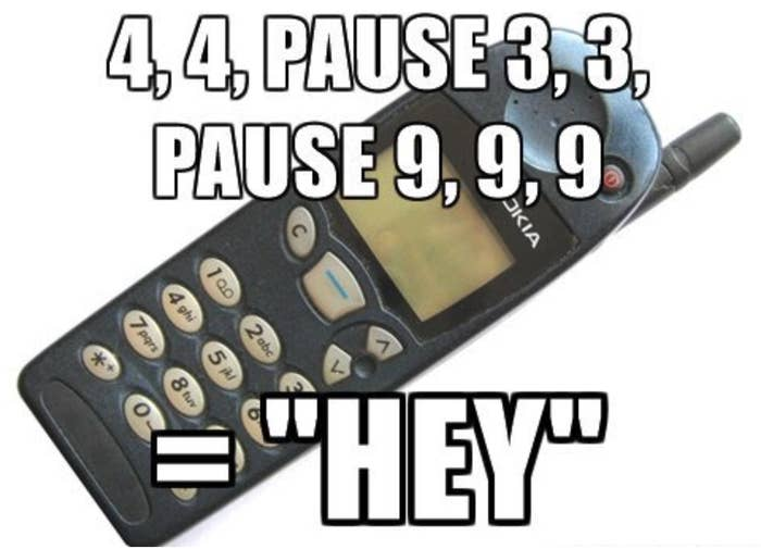Meme of a phone using T9 texting service