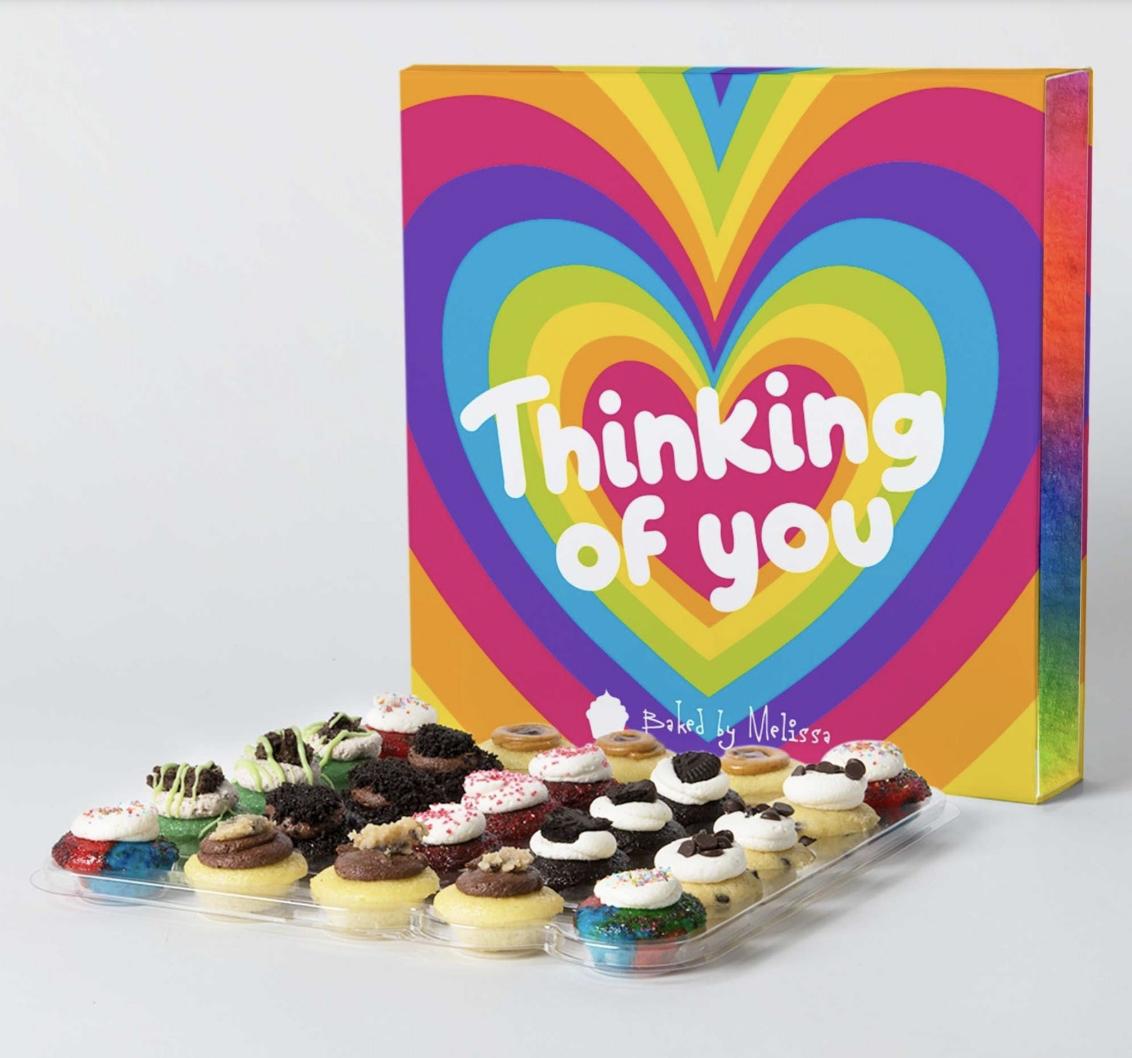 A box of 25 mini cupcakes